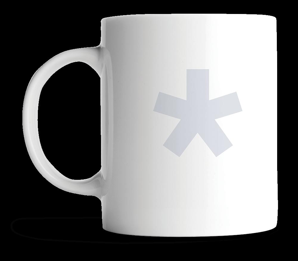 norm mug with asterisk